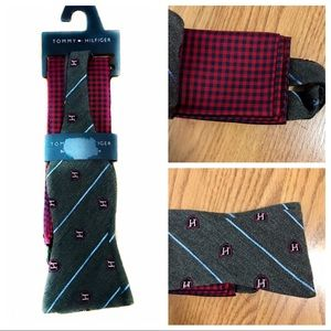 NWT Tommy Hilfiger bow tie + pocket square